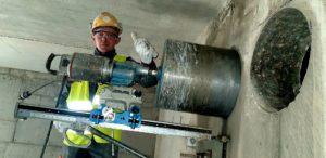 w pracy wiercenie betonu